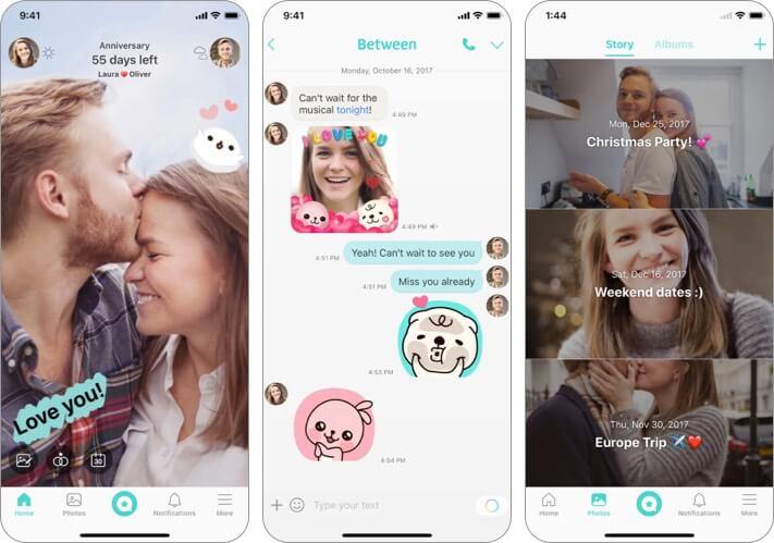 Скриншот приложения Between Valentine для iPhone