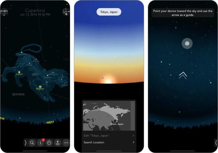 Классическая карта звездного неба 2 Скриншот приложения для iPhone и iPad