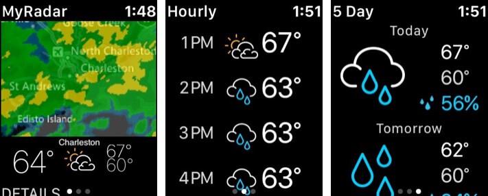 MyRadar Weather Radar Скриншот приложения для Apple Watch