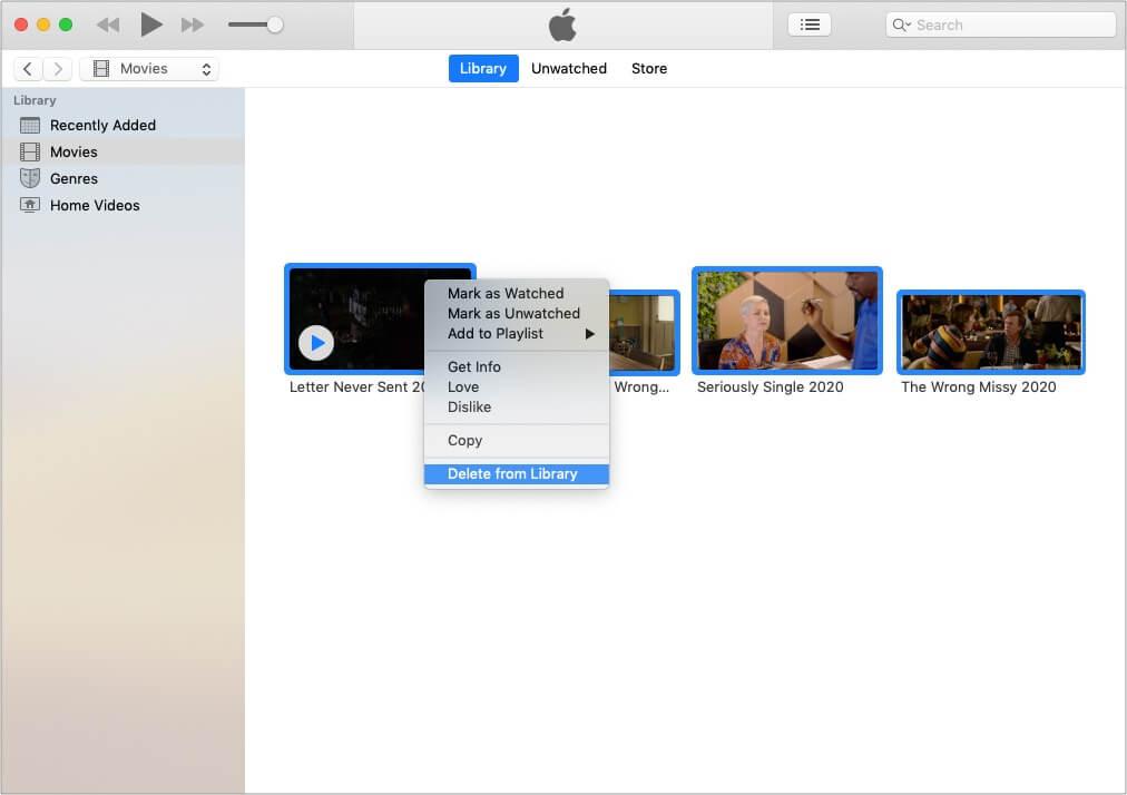 Удалить справочные файлы в iTunes