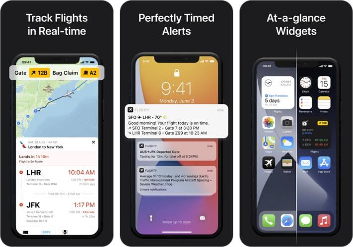 Скриншот приложения Flighty Flight Tracking для iPhone и iPad