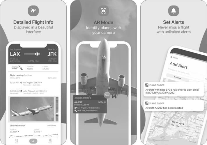 Скриншот приложения Plane Finder для iPhone и iPad