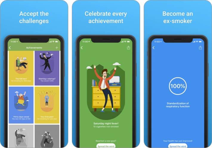 Скриншот приложения QuitNow для iPhone и iPad