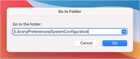Введите указанную строку в «Перейти к папке» на Mac