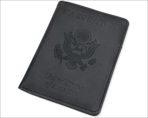 Кожаная обложка для паспорта GDTK для путешествий