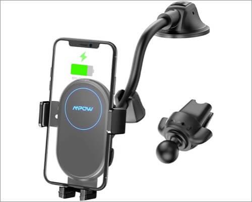 Автомобильное беспроводное зарядное устройство MPow Автомобильный аксессуар для iPhone