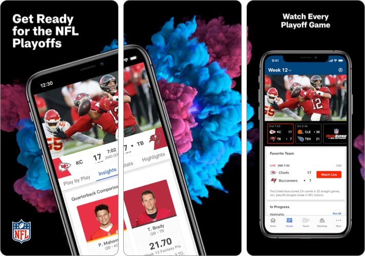 Скриншот приложения NFL для iPhone и iPad
