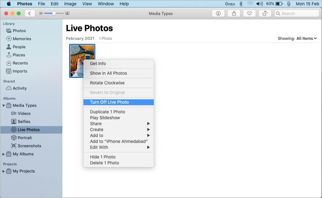 Как изменить живые фотографии на приложение