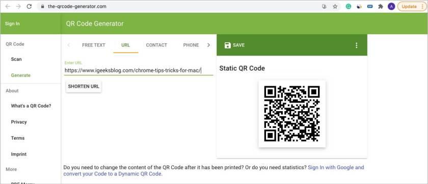 Как быстро создавать QR-коды