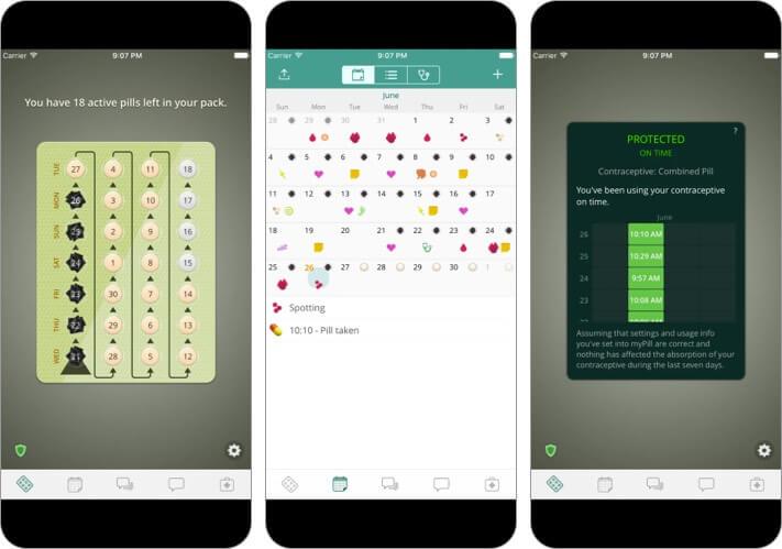 Напоминание о контроле над рождаемостью mypill Скриншот приложения для iphone и ipad для женщин