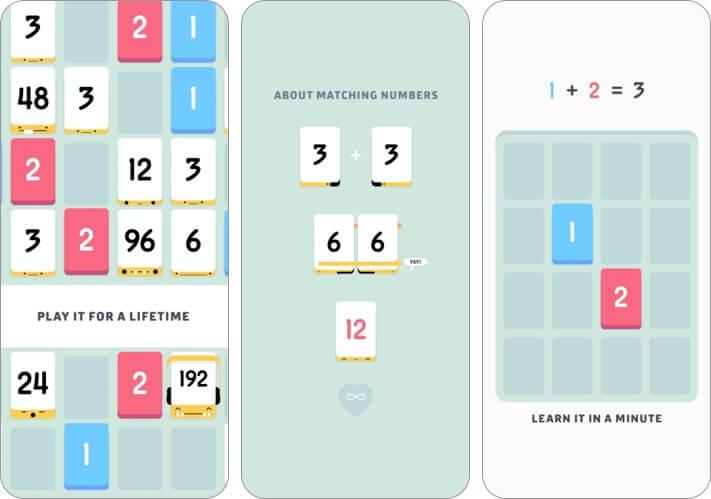 Скриншот игры Threes iPhone