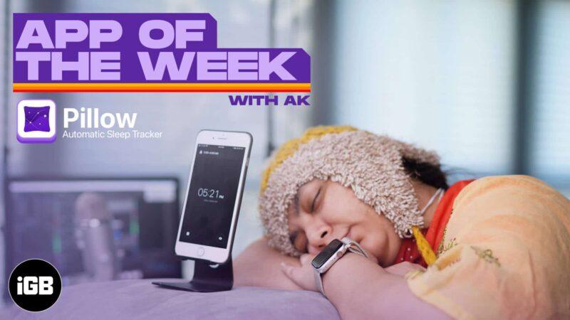 appyweek with ak pillow makes sleep