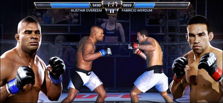 Снимок экрана приложения EA SPORTS UFC для iPhone и iPad