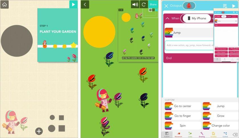 Практическая концепция обучения в приложении Hopscotch для iPhone
