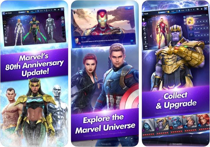 Скриншот игрового приложения MARVEL Future Fight для iOS
