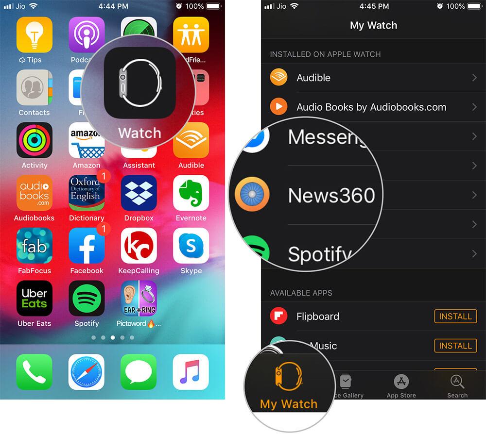 Откройте приложение для часов на iPhone и нажмите на приложение, которое хотите удалить.