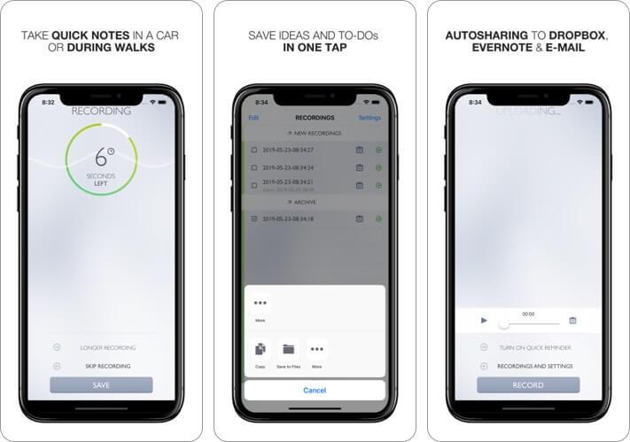 Say Go Голосовые заметки Запись видео Скриншот приложения для iPhone