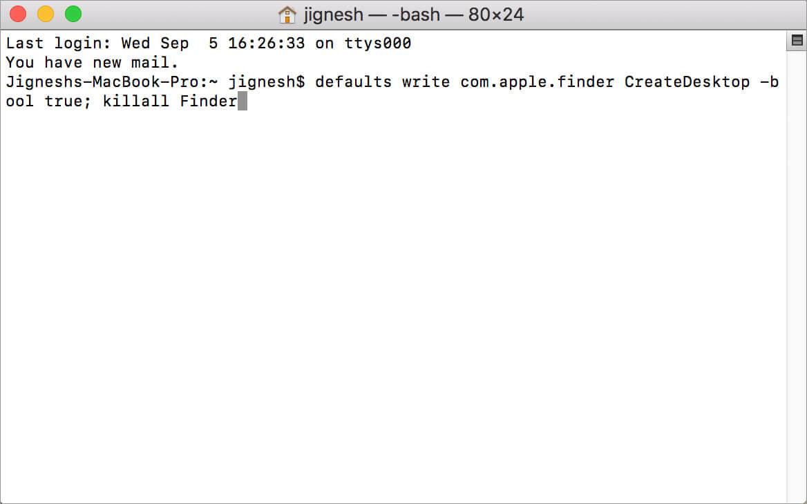 Просто введите команду Unhide в приложении Mac Terminal
