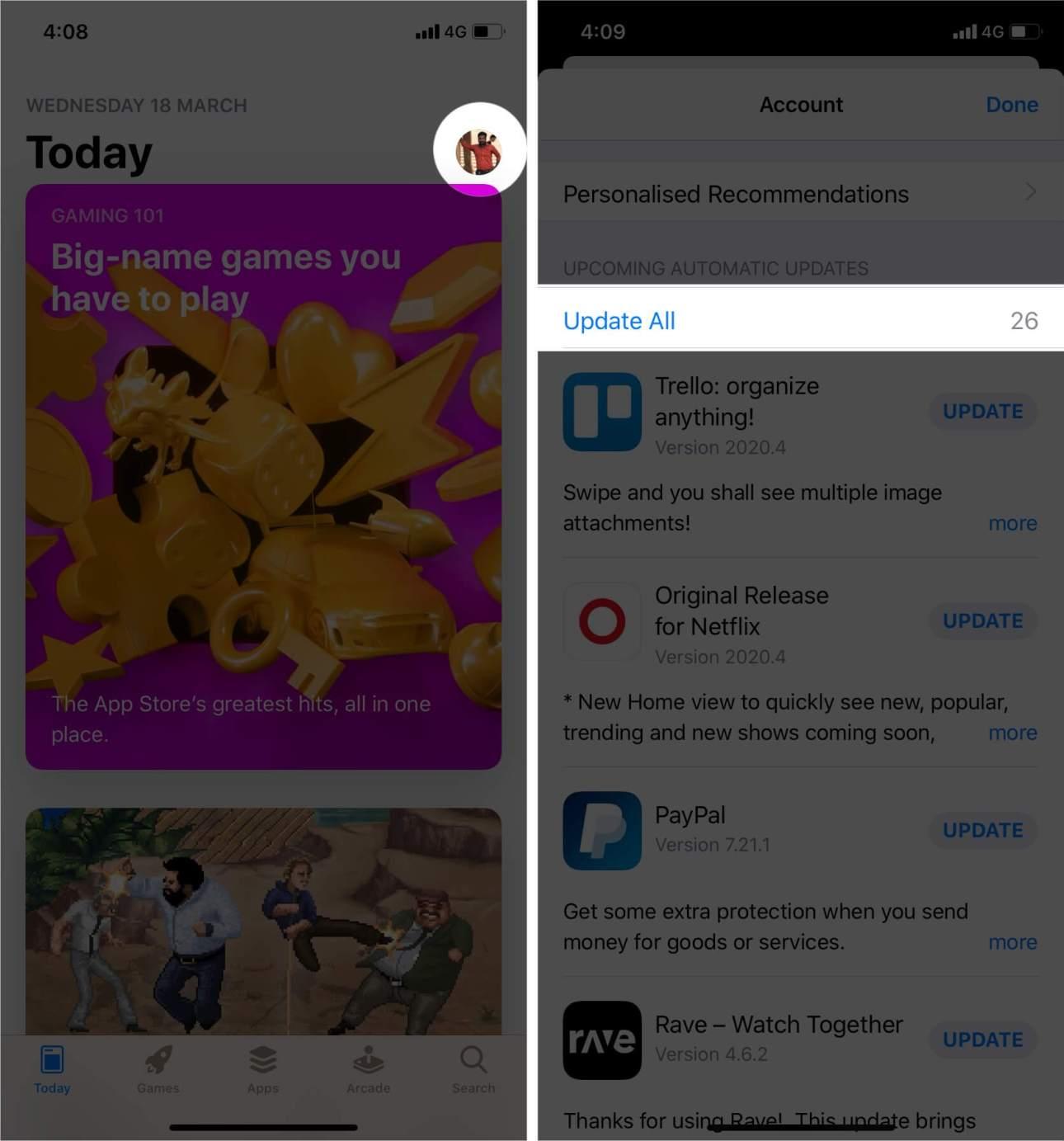 Обновление приложения из App Store в iOS 13