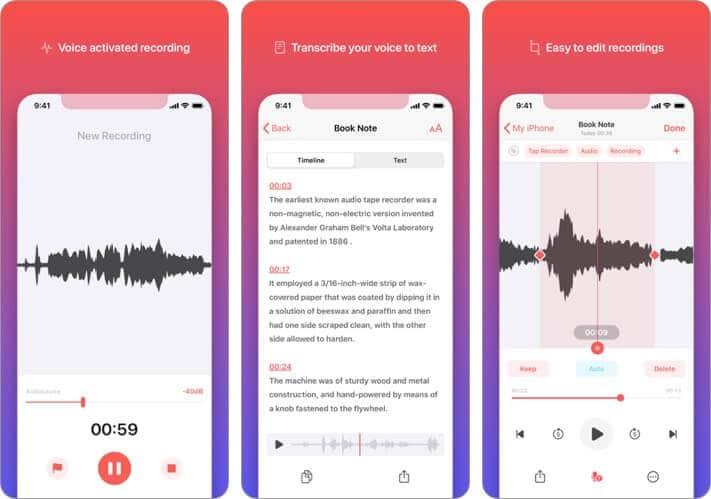 Скриншот приложения для записи видео для iPhone
