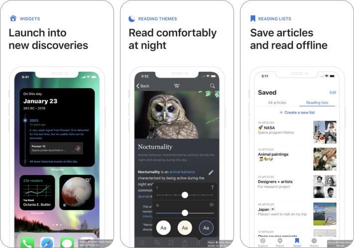 Википедия iOS 14 сторонние виджеты домашнего экрана для iPhone скриншот