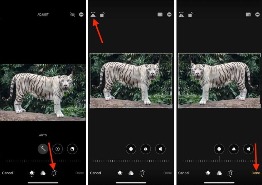 Как перевернуть изображение на iPhone или iPad с помощью приложения Фото
