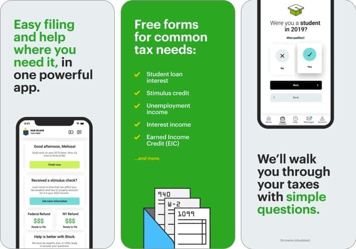 скриншот налогового приложения h & r iphone и ipad