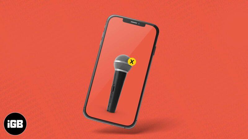 Микрофон iPhone не работает Как исправить проблему