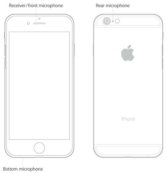 Размещение микрофона на iPhone