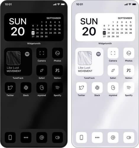 монохромные наборы значков приложений для iphone и ipad