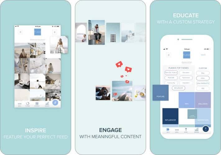 Plann + Instagram Analytics снимок экрана приложения для iphone