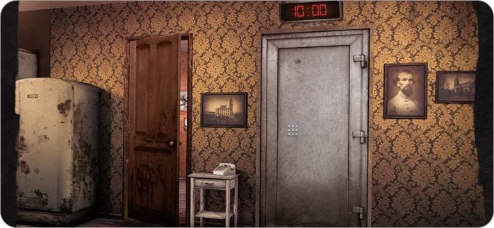 Скриншот игры побег из комнаты в центре внимания iphone и ipad
