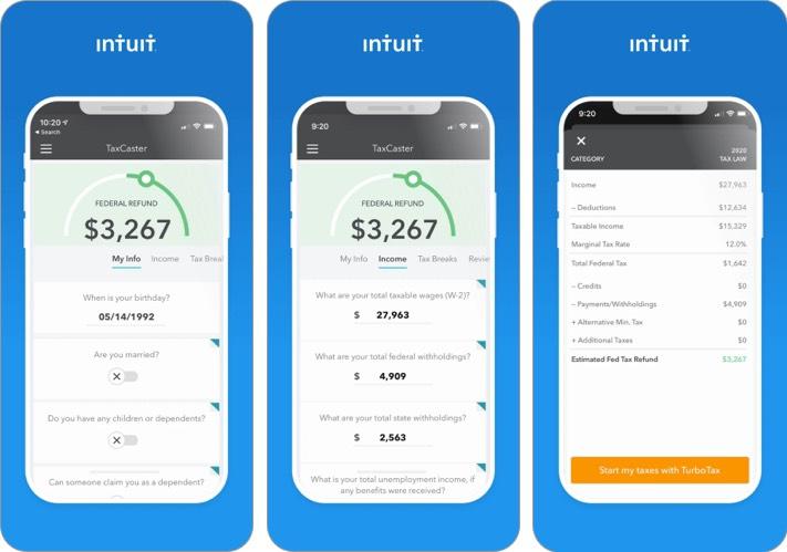 Taxcaster iphone и ipad скриншот налогового приложения
