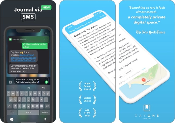 Скриншот приложения Day One Journal для iPhone и iPad