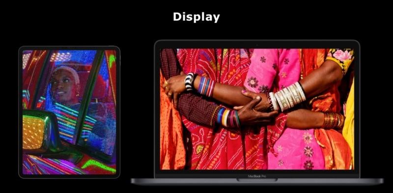 M1 iPad Pro против M1 MacBook Pro - Дисплей