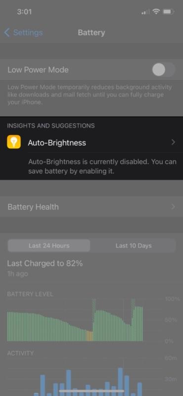 Используйте идеи и предложения по батарее на iPhone