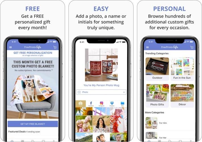 Скриншот приложения FreePrints для iPhone