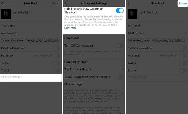Как скрыть лайки и просмотры видео в новых постах в Instagram