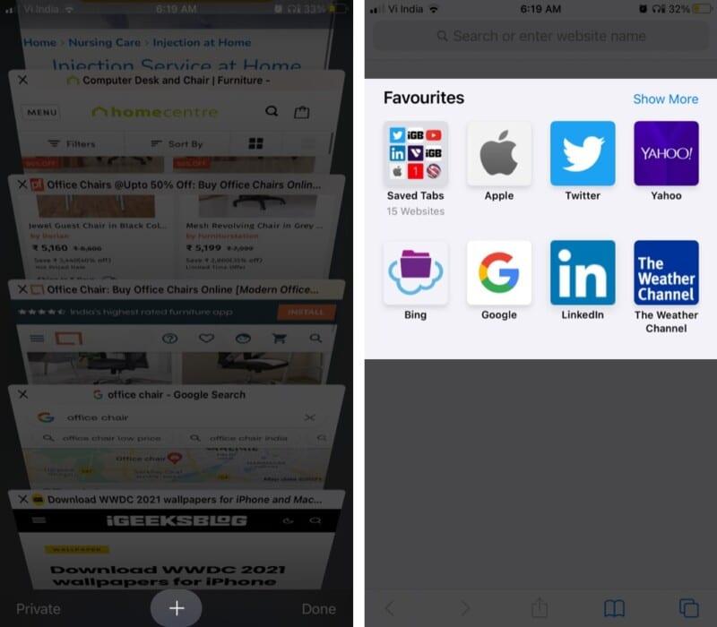Где мои закладки сохранены в Safari в iOS 14