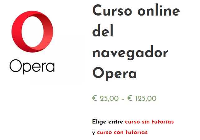 curso online del Navegador Opera