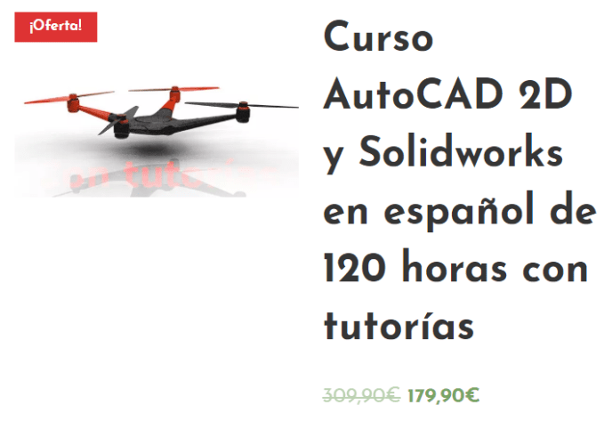 Oferta AutoCAD Solidworks Instituto Galego de Formación