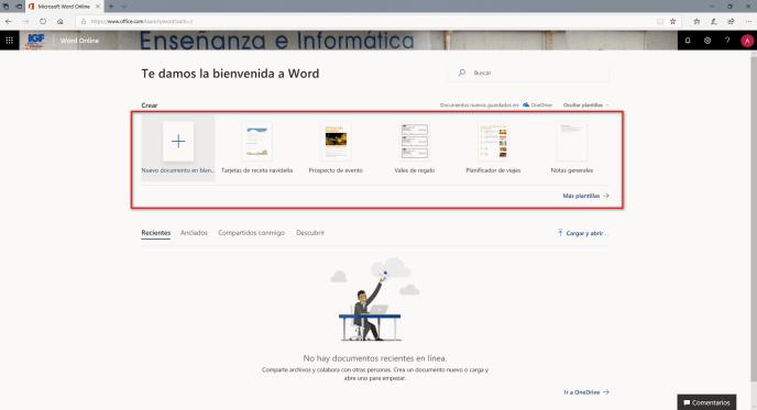 Plantillas Word online - Instituto Galego de Formación