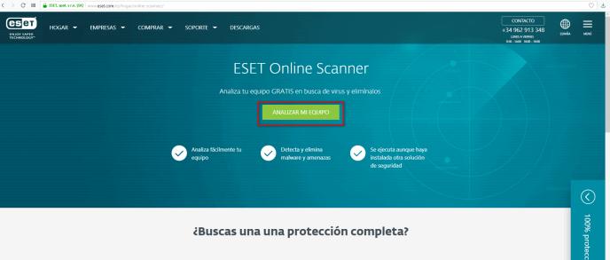 Analizar el ordenador ESET - Instituto Galego de Formación