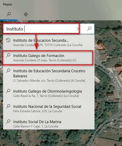 Buscar en Mapas - Instituto Galego de Formación
