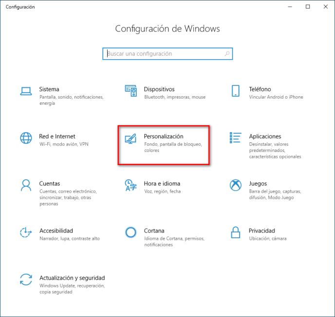 Configuración de Windows 10 - Instituto Galego de Formación