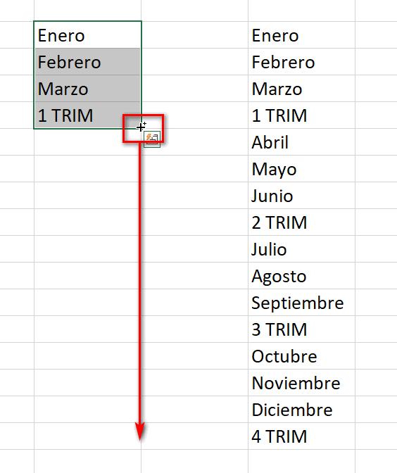 Gestor de llenado en Excel - Instituto Galego de Formación