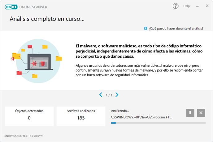 Inicio análisis ESET - Instituto Galego de Formación