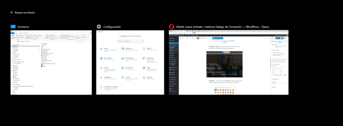Vista de tareas - Instituto Galego de Formación