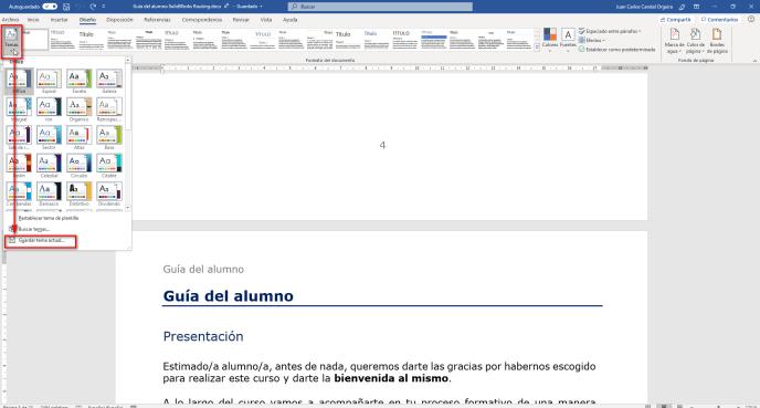 Guardar temas en Word - Instituto Galego de Formación