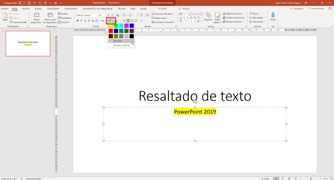 Resaltado de texto en PowerPoint - Instituto Galego de Formación